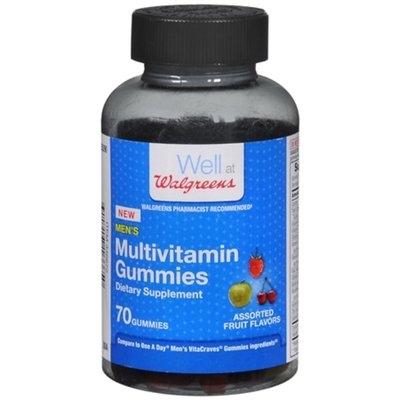 Walgreens Men's Multivitamin, Gummies, Fruit, 70 ea