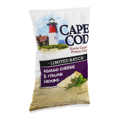 Cape Cod Kettle Cooked Potato Chips Asiago Cheese & Italian Herbs