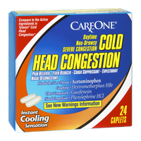 CareOne Cold Head Congestion Daytime Non-Drowsy Severe Congestion Caplets - 24 CT
