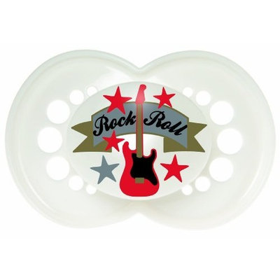 MAM 2 Pack Rock N' Roll Silicone Pacifier, 6 Months, Colors May Vary (Discontinued by Manufacturer)