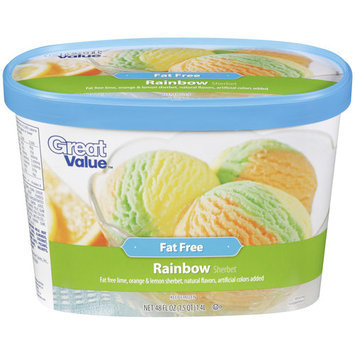 Great Value Rainbow Sherbet, 48 oz