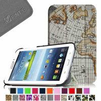 Fintie Samsung Galaxy Tab 3 7.0 Case Cover - Ultra Slim Lightweight Stand Smart Shell, Map Design