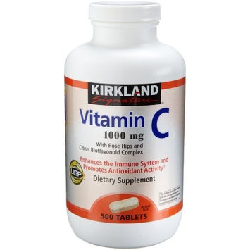 Kirkland Signature Kirkland Vitamin C with Rose Hips and Citrus Bioflavonoid Complex (1000 mg), 500-Count Tablets