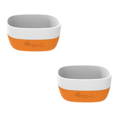 ZoLi NOSH Ceramic Bowls Set of 2 - Orange