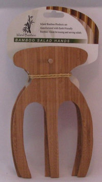 Salad Hands With Clip Strip Hang Tag Island Bamboo 1 pair Utensil