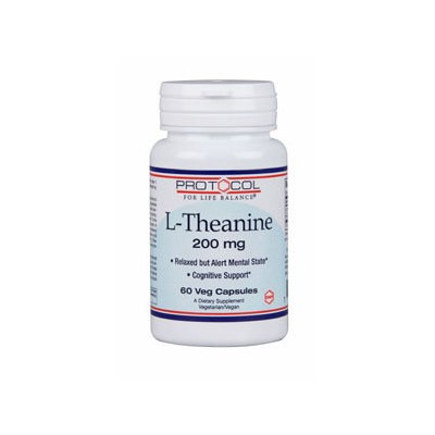 L-Theanine 200 mg 60 vcaps by Protocol For Life Balance