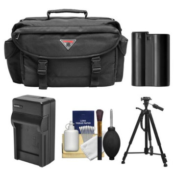 Precision Design 2000 Digital SLR Camera Case with Battery & Charger + Tripod + Kit for Nikon D7000, D7100, D600, D610, D800, D800E