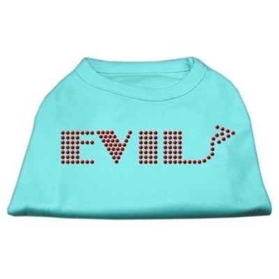Mirage Pet Products 5228 MDAQ Evil Rhinestone Shirts Aqua M 12