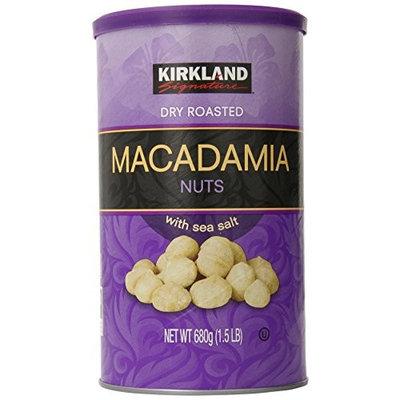 Kirkland Signature Kirkland Dry Roasted Macadamia Nuts with Sea Salt 680g (1.5 LB)