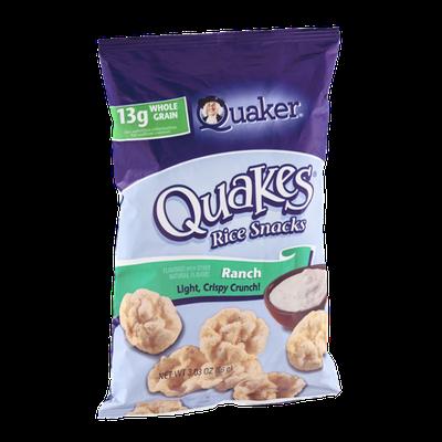 Quaker Quakes Rice Snacks Ranch