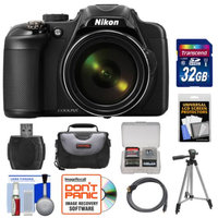 Nikon Coolpix P600 Wi-Fi Digital Camera (Black) with 32GB Card + Case + Tripod + HDMI Cable + Accessory Kit