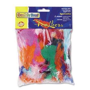 Chenille Kraft Company Craft Supplies Bright Hues Feather Assortment
