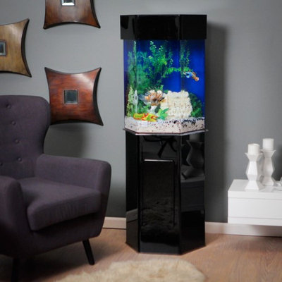 Clear-for-life Acrylic Hexagon Aquarium Stand