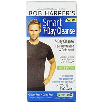 Biggest Loser Bob Harper Smart 7-day Cleanse Veggie-Caps, 42-Count, 24 Hour Support, Gluten and Dairy Free Detox Formula with Acai, Lose Weight and Feel Refreshed for Summer!