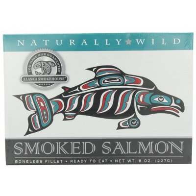 Alaska Smokehouse Smoked Salmon Fillet, 8-Ounce Gift Boxes (Pack of 2)