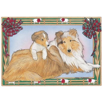 Pipsqueak Productions C860 Holiday Boxed Cards- Collie