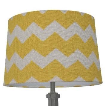 Threshold Burlap Chevron Lamp Shade Small- Yellow