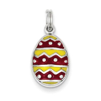 Sears Expired goldia Sterling Silver Enameled Easter Egg Charm