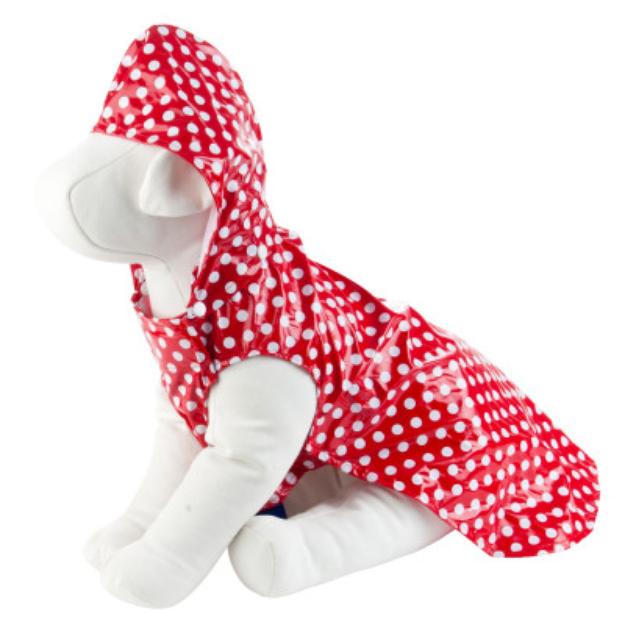 Top Paw Red Polka Dot Rain Coat