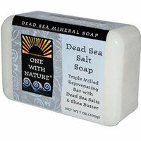 One With Nature Dead Sea Mineral Dead Sea Salt Soap 7 oz