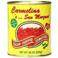 Carmelina Italian Whole Peeled Tomatoes in Puree, 28-Ounce (Pack of 6)