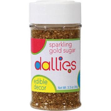Xcell International Corp Dallies Sparkling Gold Sugar Edible Decor, 3.3 oz