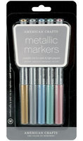 American Crafts Medium Point Metallic Markers - 5-pack