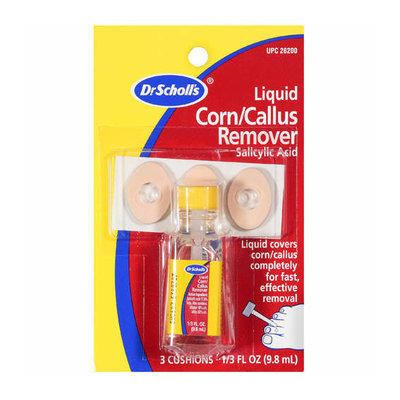 Dr. Scholl's Dr Scholl's: Salicylic Acid 3 Cushions 1 Liquid Remover Corn/Callus Remover