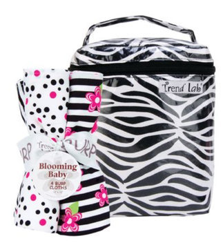 Test test Zahara Black & White Zebra Bottle Bag & Burp Cloth Set - test