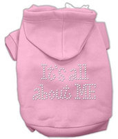 Mirage Pet Products 5403 XLPK Its All About Me Rhinestone Hoodies Pink XL 16
