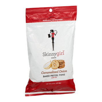 Skinnygirl Snacks Baked Pretzel Thins Caramelized Onion