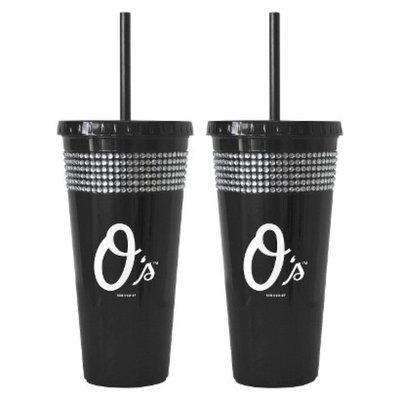 Boelter Brands MLB Nationals Set of 2 Bling Straw Tumbler - 22oz