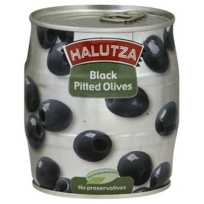 Halutza Black Olives Pitted Canned, 18-Ounce (Pack of 6)