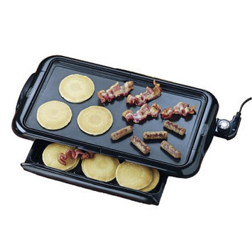 Nostalgia Electrics NGD-200 Non-stick Griddle with Warming Drawer