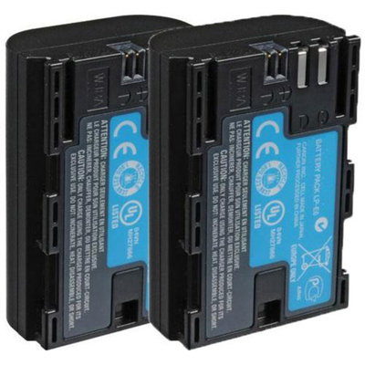 Replacement Battery For Canon LP-E6 (2 Pack)