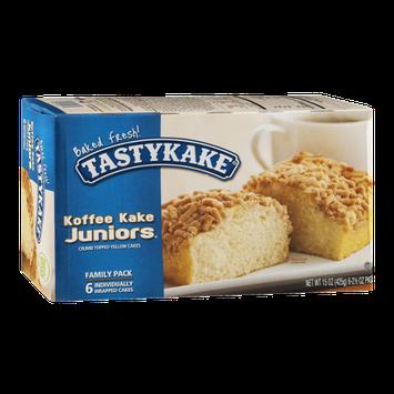 Tastykake Koffee Kake Juniors Crumb Topped Yellow Cakes Family Pack - 6 CT