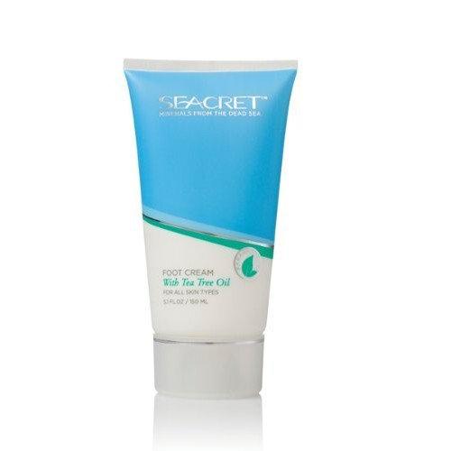 Seacret Foot Cream with Tea Tree Oil (5.1floz/ 150ml) by Seacret Spa