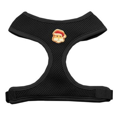 Mirage Pet Products 73-06 LGBK Santa Face Chipper Black Harness Large