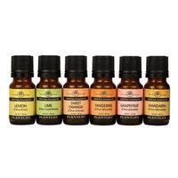 Plantlife Top 6 Citrus Essential Oil Gift Set 6/10 ml (Lime, Lemon, Sweet Orange, Tangerine, Grapefruit and Lemongrass)