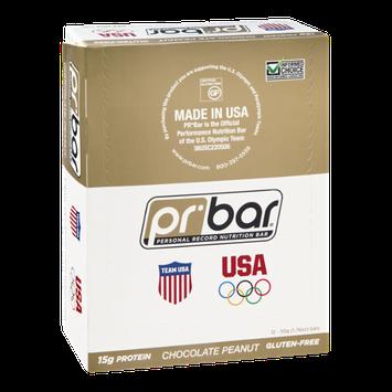 PR Bar Personal Record Nutrition Bar Chocolate Peanut Butter - Gluten Free - 12 Bars