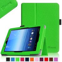 Fintie Folio Leather Case Cover For E FUN Nextbook Premium 8HD SE NX008HD8G Tablet, Green