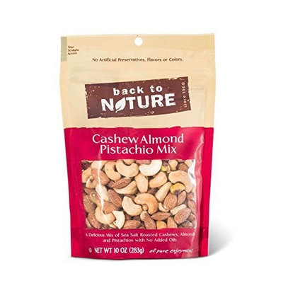 Back To Nature Cashew, Almond & Pistachio Mix, 10-Ounce Pouches (Pack of 3)