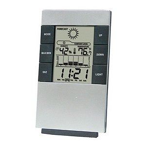 GGI International Digital Desktop Alarm Clock and Weather Station
