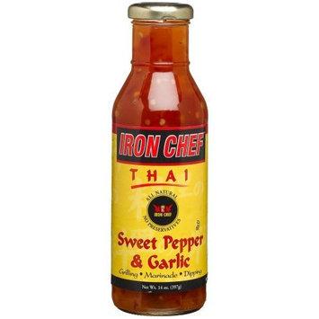 IRON CHEF Thai Sweet Pepper & Garlic Sauce, All Natural, Kosher, 14-Ounce Glass Bottles (Pack of 3)
