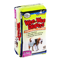 Four Paws Wee-Wee Diapers X-Small (4-8 lbs) - 12 CT