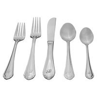 Sourcing Solutions 46 Pc Royalty Personalized Flatware - Letter A