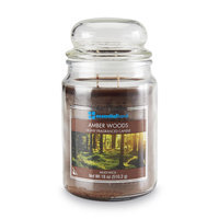 Essential Home 18 Ounce Jar Candle Amber Woods - LANGLEY PRODUCTS L.L.C.