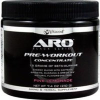 ARO-Vitacost Black Series Pre-Workout Concentrate Pink Lemonade -- 7.4 oz (210 g)
