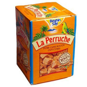 Beghin Say La Perruche Rough Cut Brown Sugar Cubes 17.6-Ounce Packages (Pack of 2)