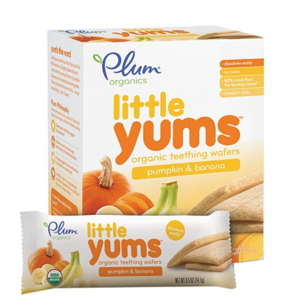 Plum Organics Baby Little Yums Organic Teething Wafers Pumpkin Banana